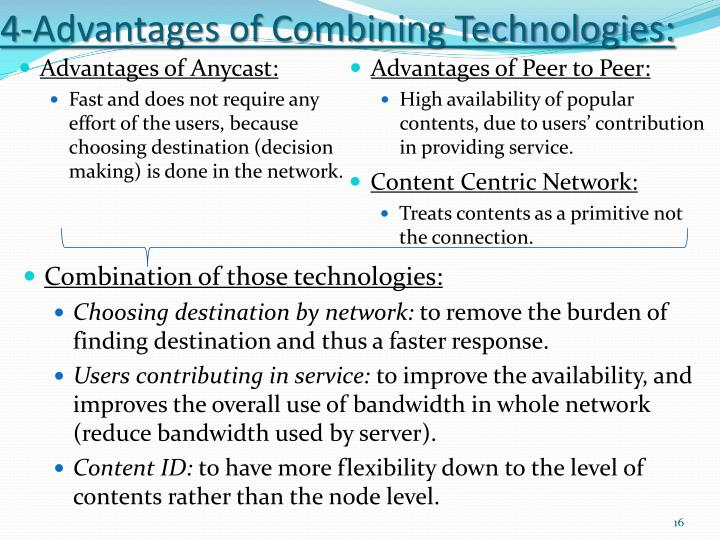 4-Advantages of Combining Technologies: