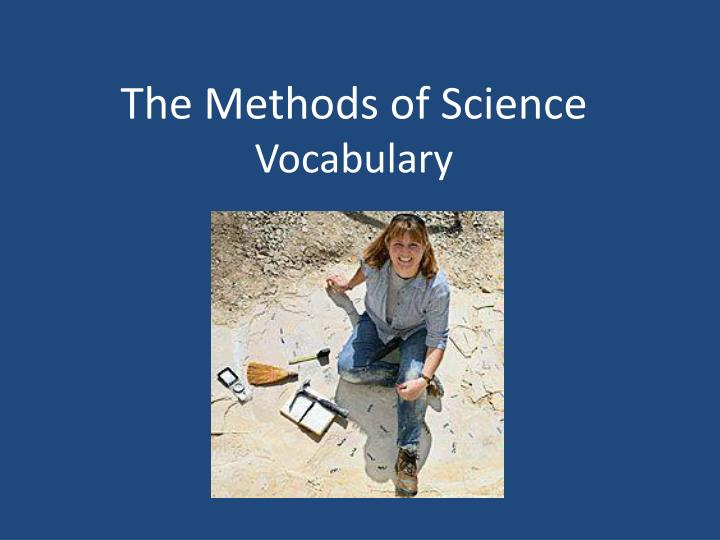 the methods of science vocabulary n.