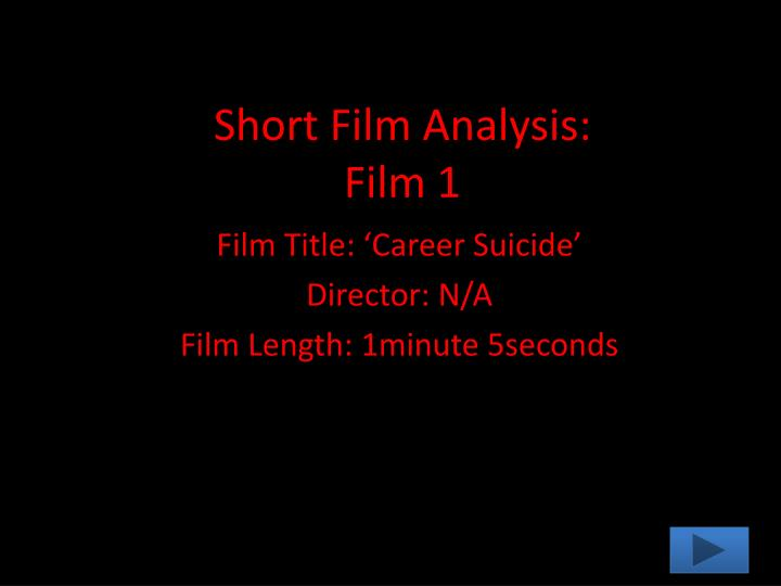Short film analysis film 1