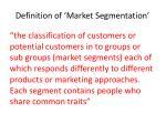 definition of market segmentation