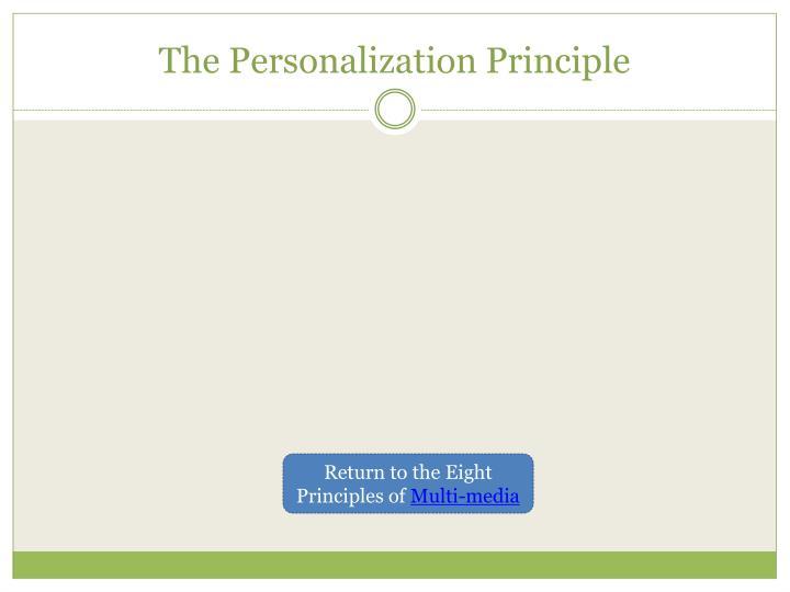 The personalization principle