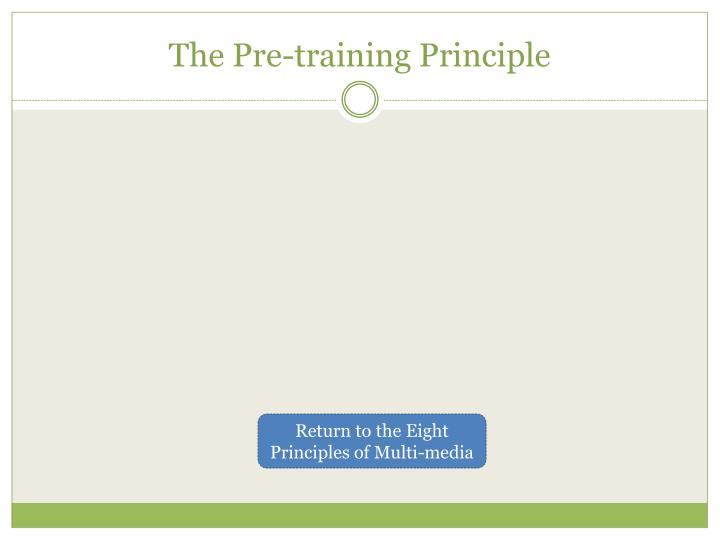 The Pre-training Principle