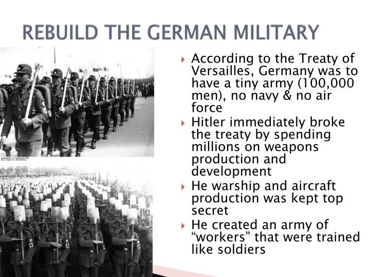 REBUILD THE GERMAN MILITARY