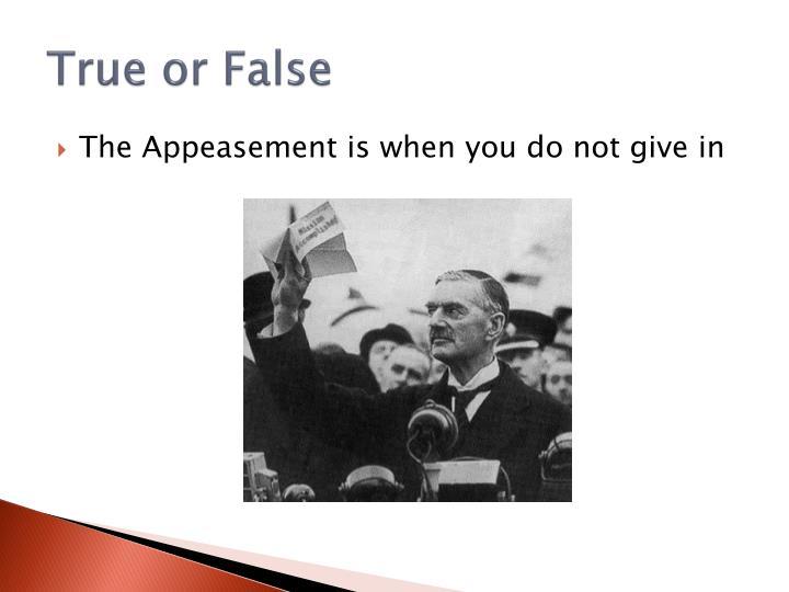 True or False