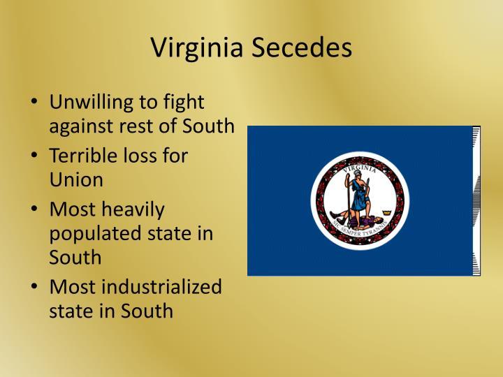 Virginia Secedes