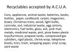 recyclables accepted by a c u a