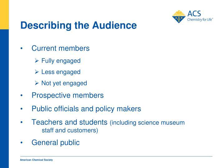 Describing the Audience
