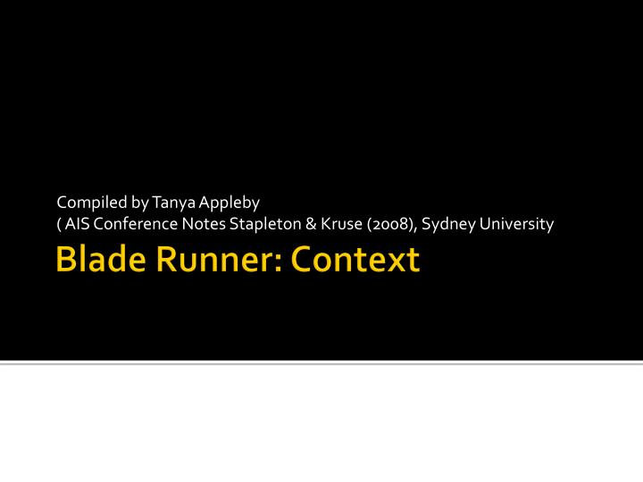 compiled by tanya appleby ais conference notes stapleton kruse 2008 sydney university n.