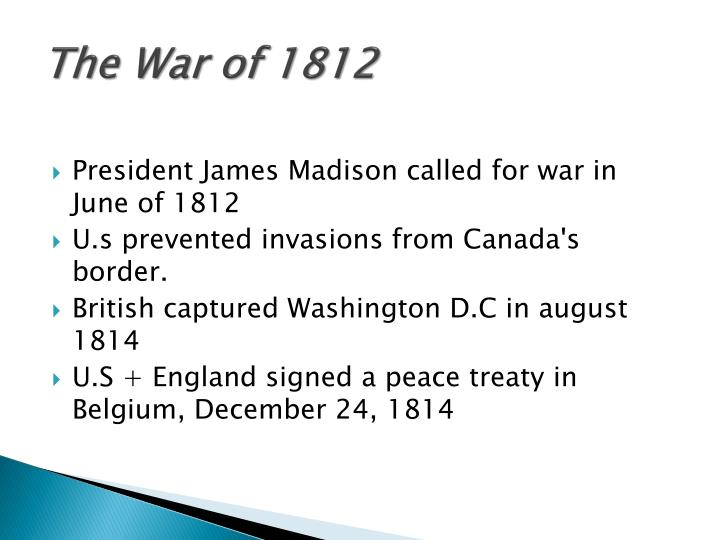 The War of 1812