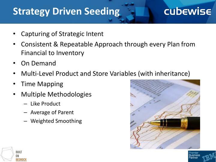 Strategy driven seeding1