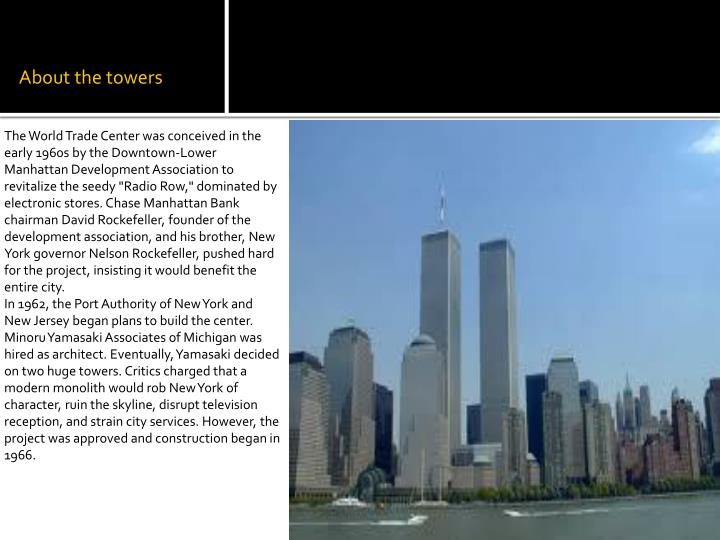 About the towers
