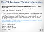 part xi pertinent website information4