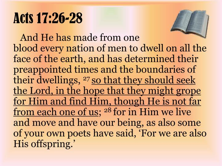 Acts 17:26-28