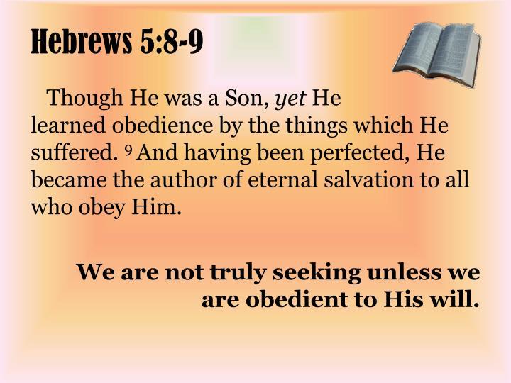 Hebrews 5:8-9