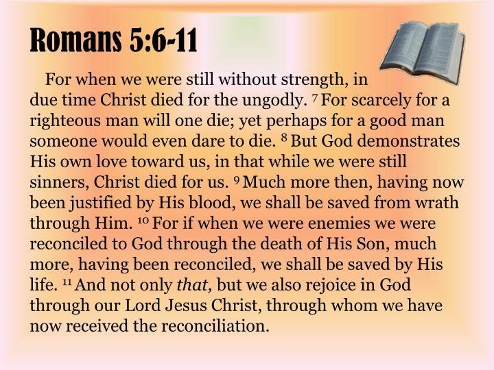 Romans 5 6 11