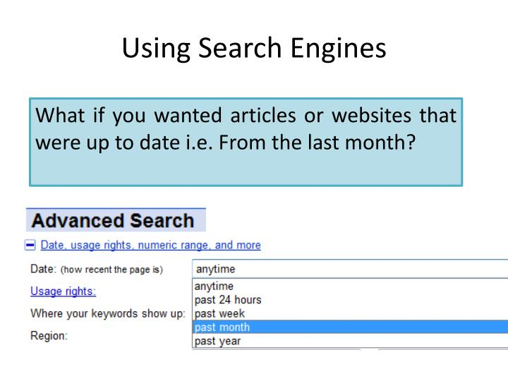 Using search engines1