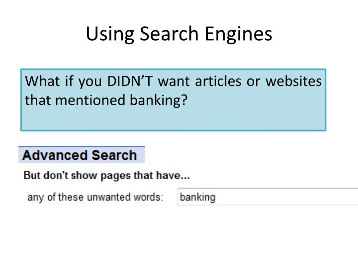Using search engines2