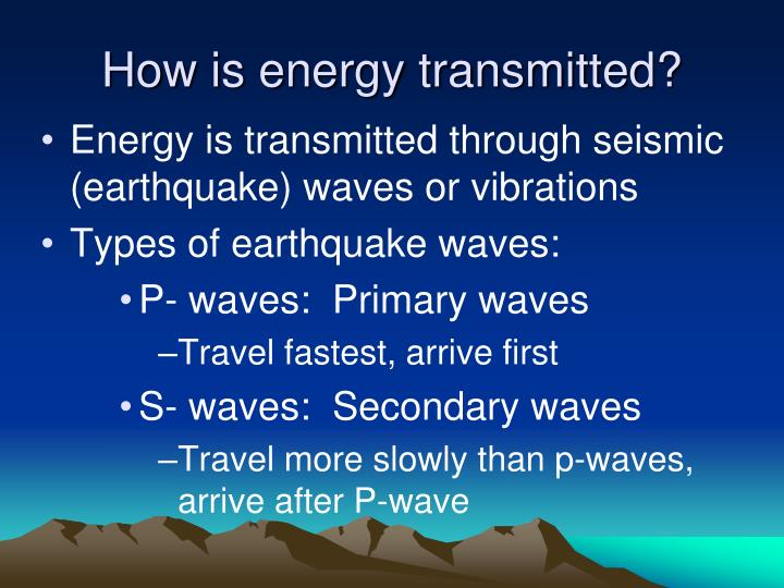 How is energy transmitted?