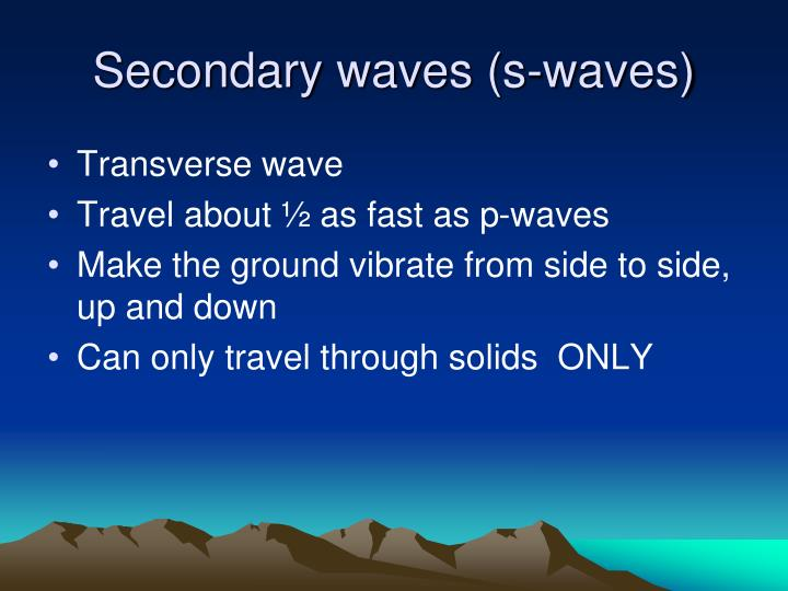 Secondary waves (s-waves)