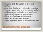 environmental efffects