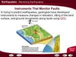instruments that monitor faults