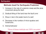 methods used for earthquake prediction