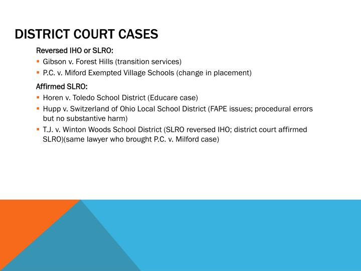District court Cases