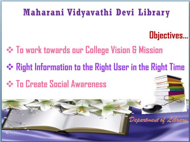 Maharani Vidyavathi Devi Library