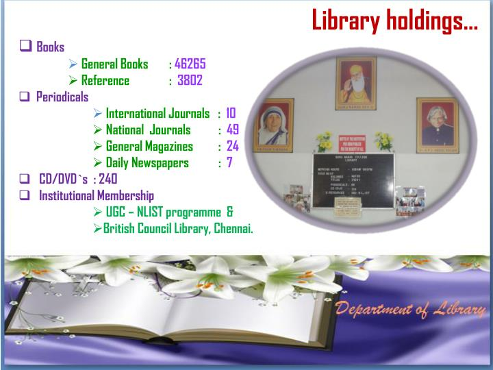 Library holdings…