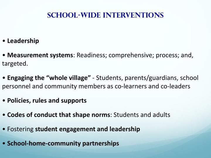 School-wide interventions