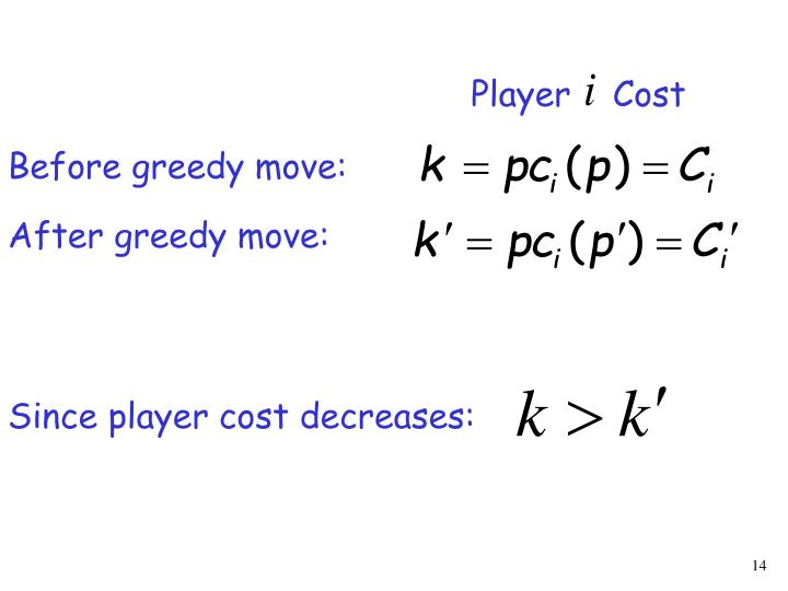 Player    Cost