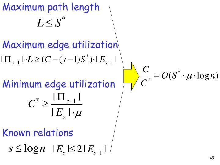 Maximum path length