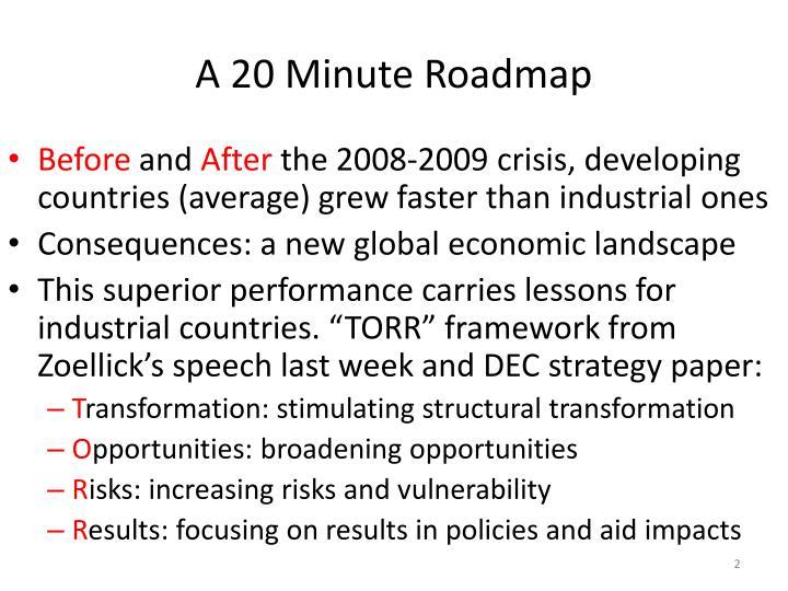 A 20 minute roadmap