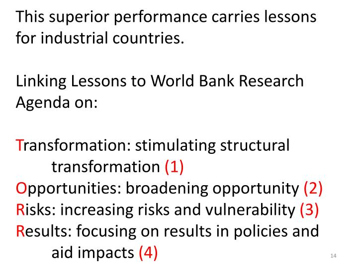 This superior performance carries lessons for industrial countries.