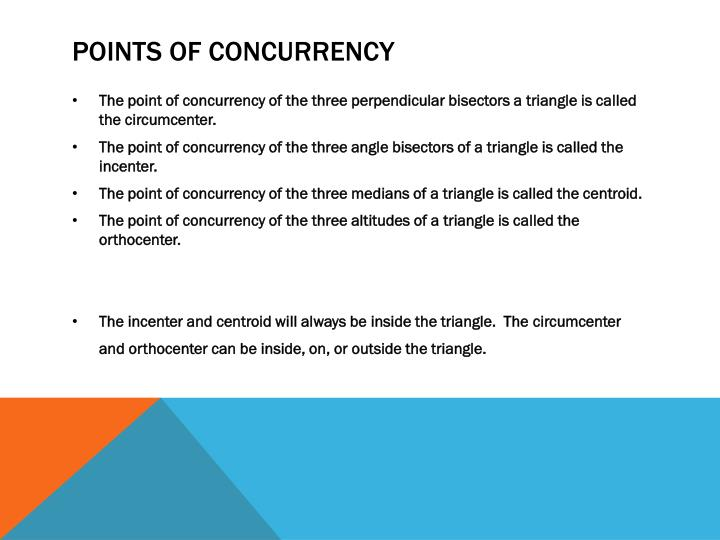 Points of concurrency