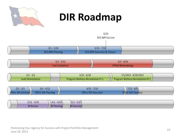 DIR Roadmap