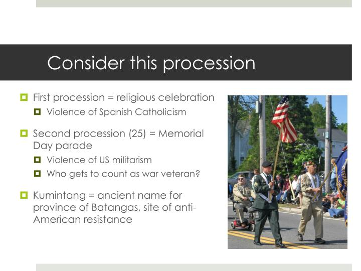Consider this procession