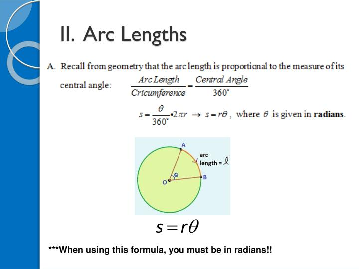 II.  Arc Lengths