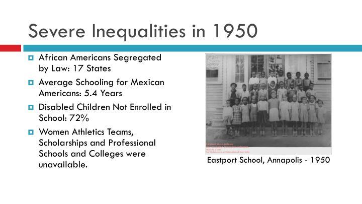Severe inequalities in 1950