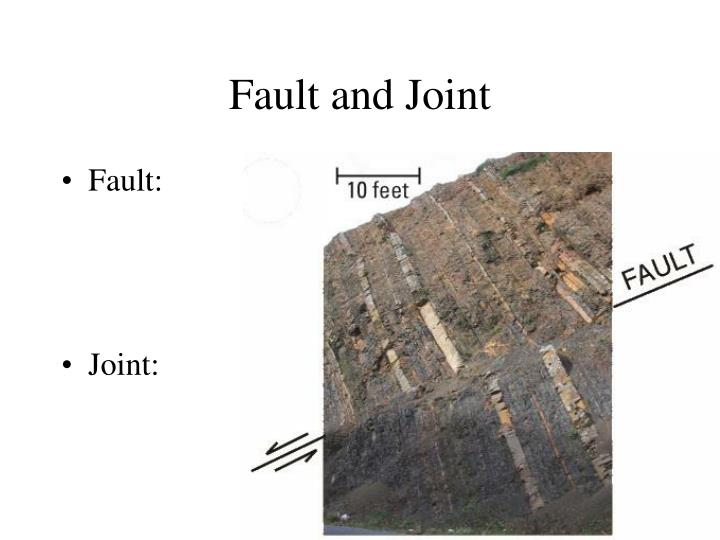 Fault and Joint