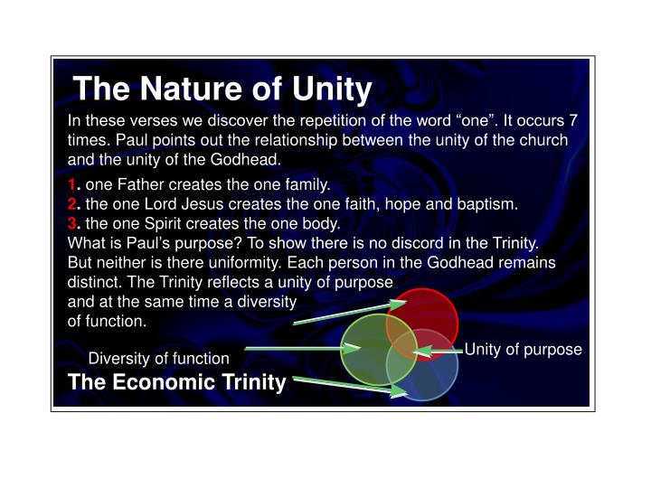 The Nature of Unity