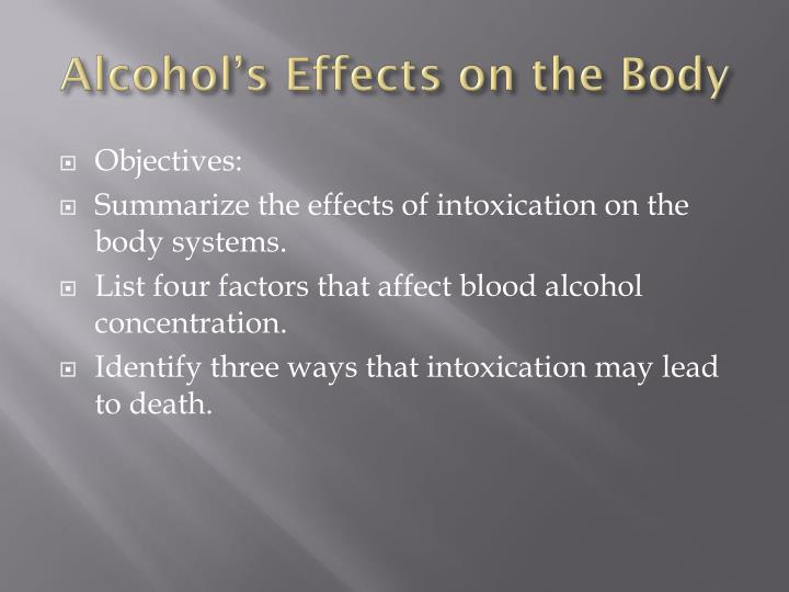 Alcohol's Effects on the Body