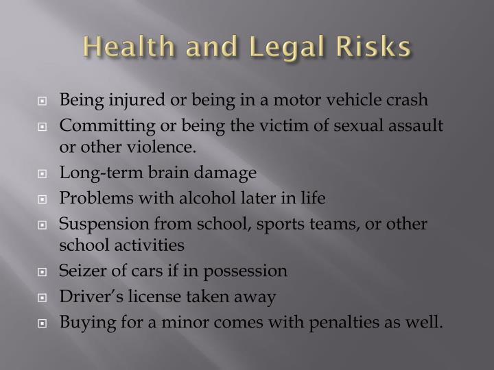 Health and Legal Risks