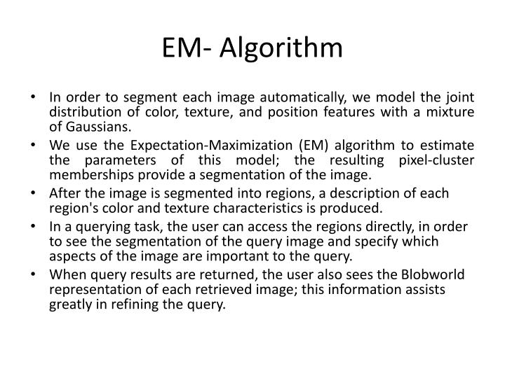 EM- Algorithm