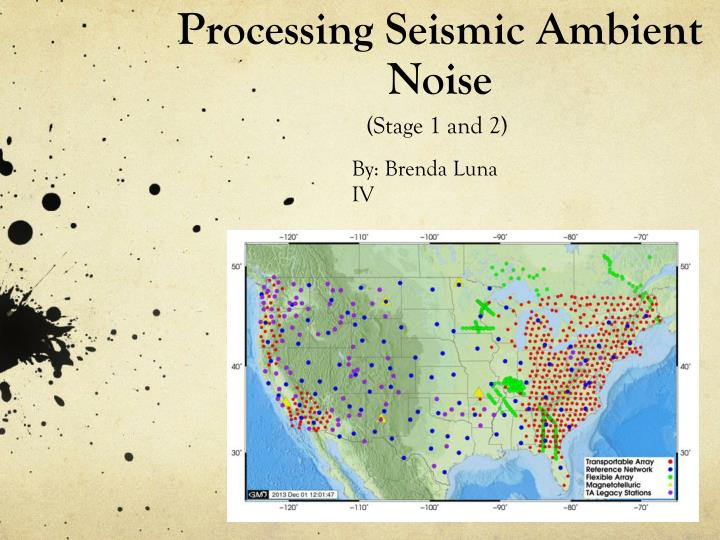 processing seismic ambient noise n.
