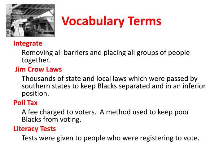 Vocabulary terms1