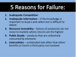 5 reasons for failure