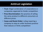 antitrust legislation