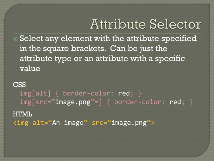 Attribute Selector