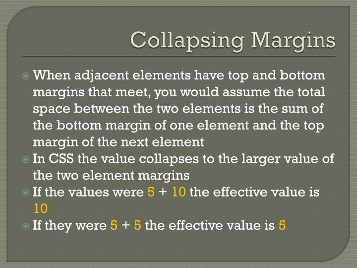 Collapsing Margins